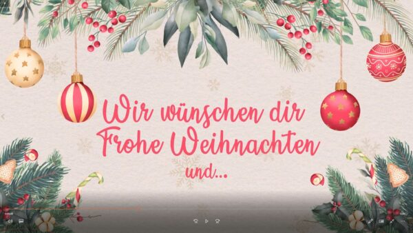 Jingle Bells Weihnachtsgruß-Karte Video-Animation - Festliche Grusskarte